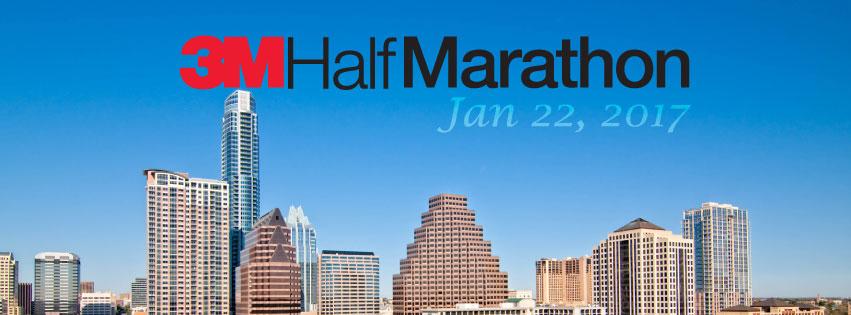 3M Half Marathon 131 Mile Run Sunday January 22 2017 9700 Stonelake Blvd Austin TX